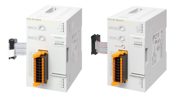 New FX5U safety extension modules for PLC.